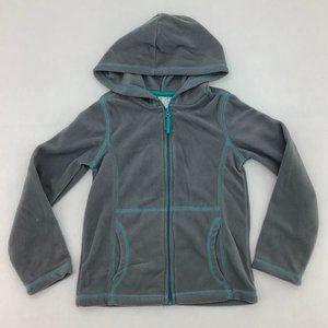 Toughskins Girls Grey Zip-Up Sweater: Size M